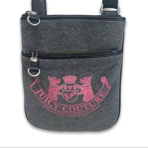 Juicy Couture Velour Grey Crossbody
